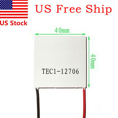 1 Pack 12V 60W Thermoelectric Cooler TEC Peltier Plate Module TEC1-12706
