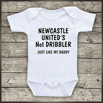 Newcastle Not only am I perfect Baby Grow Bodysuit Pullover Bib Football Gift