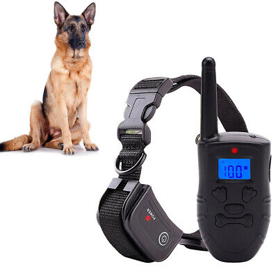 Waterproof LCD Electric Remote Dog Shock Bark Collar Trainer Training 300M New W