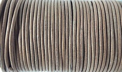2.5mm Natural Leather Cord Lace 100m Jewellery Making Cord