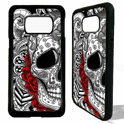 Sugar skull tattoo rose floral art case cover for Samsung Galaxy S10 S10e plus