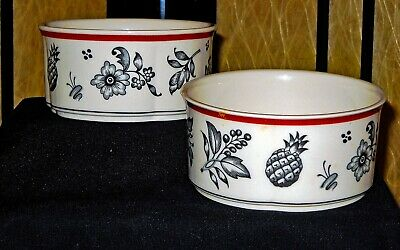 Two Villeroy & Boch SWITCH PLANTATION (SWITCH 5) Soup Cereal Bowl-Final reductio