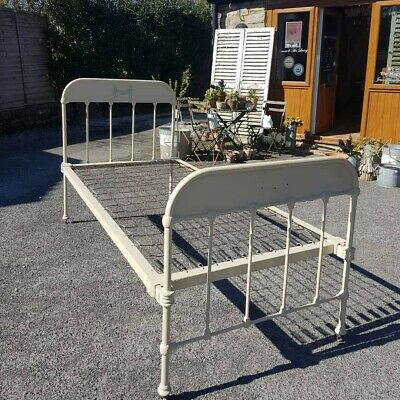Original Antique Metal French Day/Single Bed