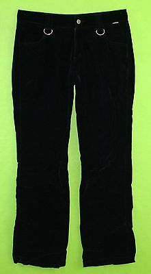 Nice Serious sz 7 Juniors Womens Black Velvet Casual Pants Slacks Trousers 5J79