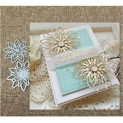 Flowers Metal Cutting Dies Paper Card Making DIY Embossing Frames Craft Stencils