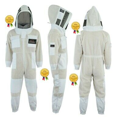 Beepro 3 Layer beekeeping full suit ventilated jacket Astronaut veil