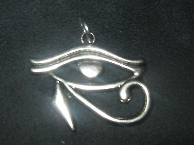 30mm Silver Color Egyptian Egypt Eye Of Horus Ra Pendant Charm Necklace