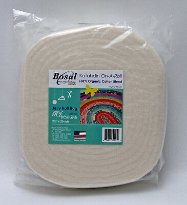 "Bosal Batting On A Roll 2.5""x 25 yards Pre-Cut Lightweight Cotton Blend M540.01"