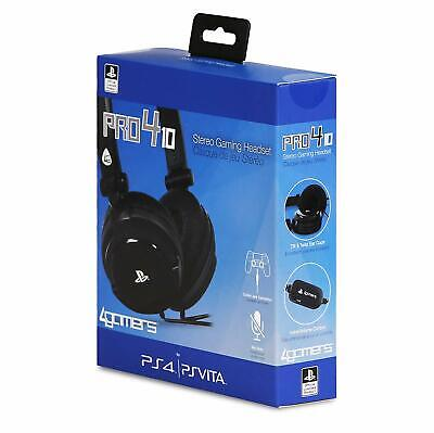 Sony Officially Licensed PRO-4 Stereo Gaming Headset For PS4 & PSVita NEW