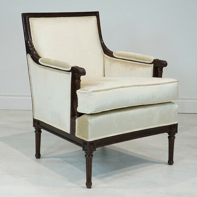 Beautiful Pair of Mahogany Gentleman's lounge Arm Chairs