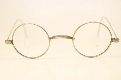 f5f56feaeb53 Unused Vintage Round Silver Eyeglasses Frames Windsor Lennon 38mm Antique