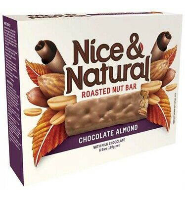 Nice & Natural Chocolate Almond Roasted Nut Bar 180gm x 8