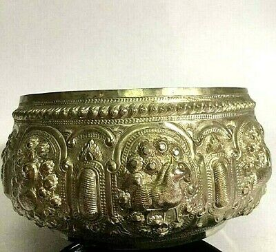 2 pieces Thailand Solid Silver Bowl Put things on Thai traditional Thai art