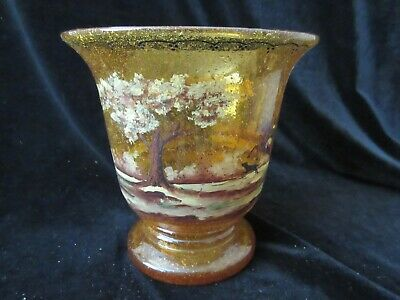 Beautifully Done Antique Hand Blown/hand Painted Glass Vase