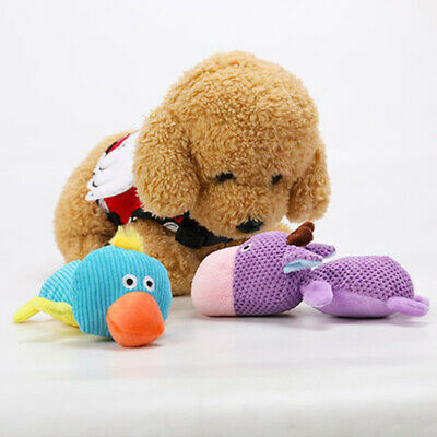 1x Funny Soft Plush Dog Toy Pet Puppy Play Chew Squeaker Squeaky Cute Sound Toys