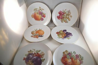 Vintage Schumann Arzberg Bavaria Germany Set of 6 Salad Dessert Plates Fruit
