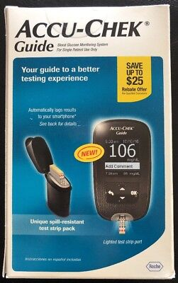 Accu-Chek Guide Blood Glucose Monitoring System New In Box