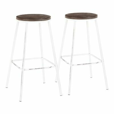 Surprising Espresso Wood And Metal Bar Stool In 24 28 With Colorful Machost Co Dining Chair Design Ideas Machostcouk