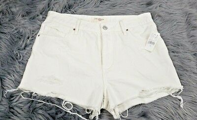 2645d5417c Pacsun Women's Size 29 Denim Jean Shorts Distressed Frayed Mid Rise NWT NEW