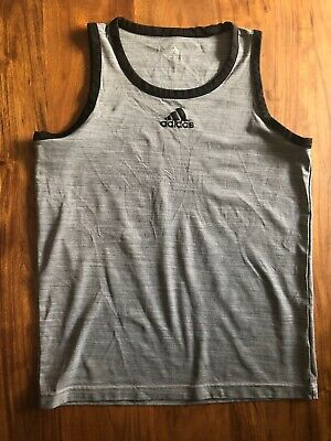01739f5ae8422 Adidas Pro Sport 3G Tank Top Mens Sz Sma Heathered Gray Basketball Gym  Training