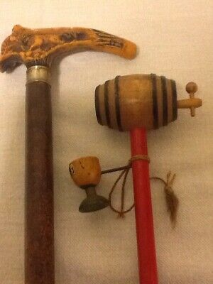 """Antique """"rare"""" Carnival Canes Lot Of (2)"""