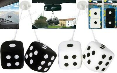 """1 pair Fuzzy Fluffy Furry Plush Dice Car Truck Home Mirror Hanging Gift Party 3"""""""