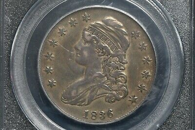 1836 Capped Bust Half Dollar PCGS XF 45 Lettered Edge
