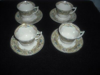 Vintage Old Ivory Syracuse China Rose Marie Pattern Demitasse cups/saucers USA