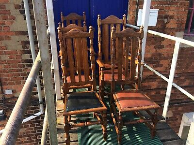 set of 6 antique dining chairs. High Back Oak Dining Chairs 4 With 2 Carvers