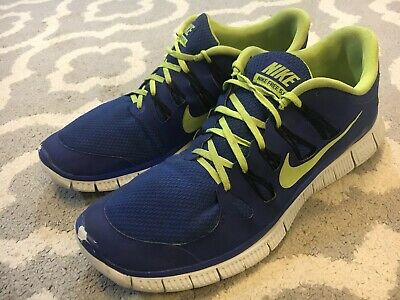 Details about Nike Free 5.0 Mens Running Shoes US Size 15 Blue Flash Green 579959 470 B3