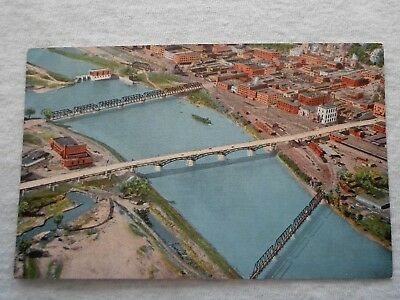 Ottumwa Iowa New Ottumwa Bridge & Viaduct vtg postcard unposted railroad bridge