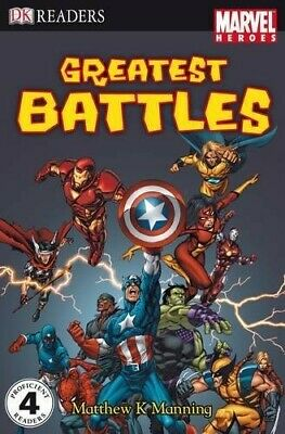 Marvel Heroes Greatest Battles: Level 4 (DK Readers Level 4) - New Book Manning,