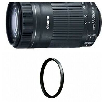 Canon EF-S 55-250mm f/4.0-5.6 IS II Zoom Lens for Canon -With UV FILTER-New