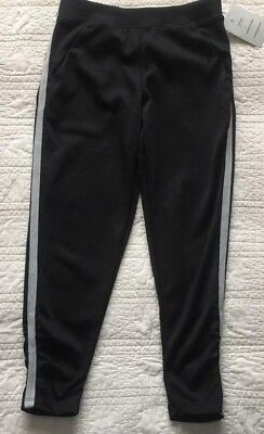 New Girls Active Wear Pants With Leg Ruching Black Size S 6/6X