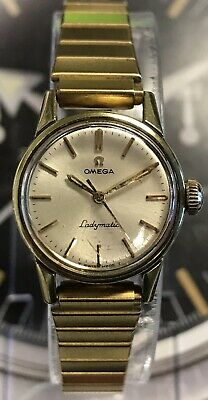 Vintage OMEGA Ladymatic Swiss 17 Jewel 670 Gold Plated Watch With New Band WOW!