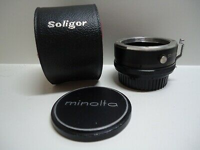 Soligor Auto Tele Converter 2X to fit Minolta MD Lens with case