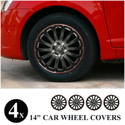 4pcs 14 INCH 14'' SPORTS WHEEL TRIMS COVER HUB CAPS CAR AUTO FOR PEUGEOT FORD