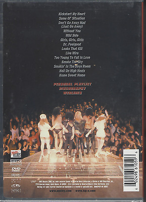RARE DVD MOTLEY CRUE Greatest Hits videos GIRLS without you DR. FEELGOOD