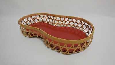 Japanese Bamboo Woven  Bowl Basket Gourd shape From Japan