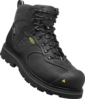 5a0a2ee7500 NEW KEEN UTILITY Mens TACOMA WP Composite Toe Black Leather Work Boots  1015395