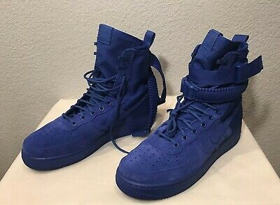 NEW NIKE SF Air Force 1 (AF1) HIGH GAME ROYAL SHOES, 864024 401, MENS SIZE 11