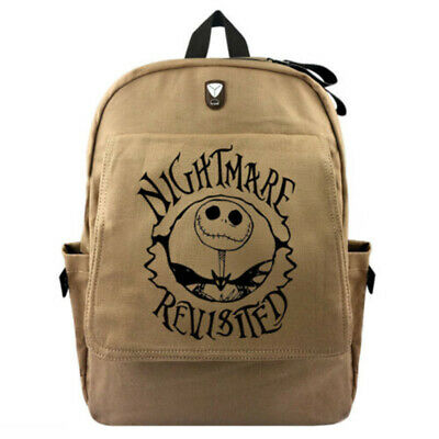 Gift The Nightmare Before Christmas Backpack Schoolbag Canvas Travel Laptop Bag