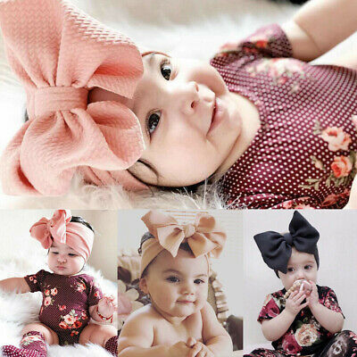 Infant Baby Girls Cute Bowknot Elastic Ribbon Headband Hairband Hair Accessories
