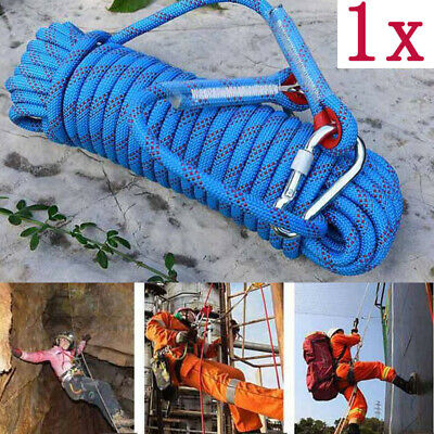 10M Climbing Rock Sling Rappelling Rope Auxiliary Cord Equipment Safety 25KN