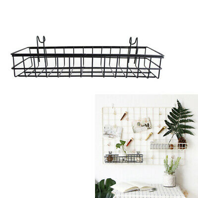 40x10x5cm Metal Long Wire Wall Hanging Basket Storage Shelf Rack Holder