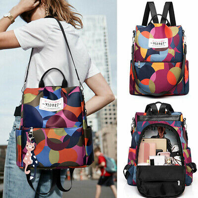 Waterproof Anti-theft Oxford Cloth Backpack Travel Rucksack Shoulder Bag Women