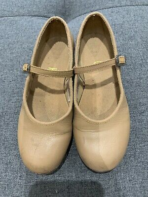 Bloch Tan Girls Tap Shoes - Sz 12 - Good condition