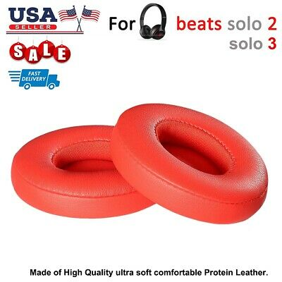 Replacement RED EAR PADS for Beats Dre Solo3 Solo3 Wireless Headphones Cushion