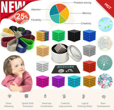 216Pcs 3mm DEVELOPMENTAL BABY TOY MAGNETIC BEAD SPHERE MAGNET PUZZLE KIDS GIFT