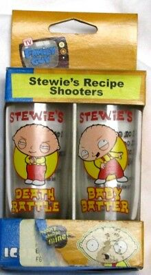 Stewie Illust The Family Guy Recipe Shooters Set of 2